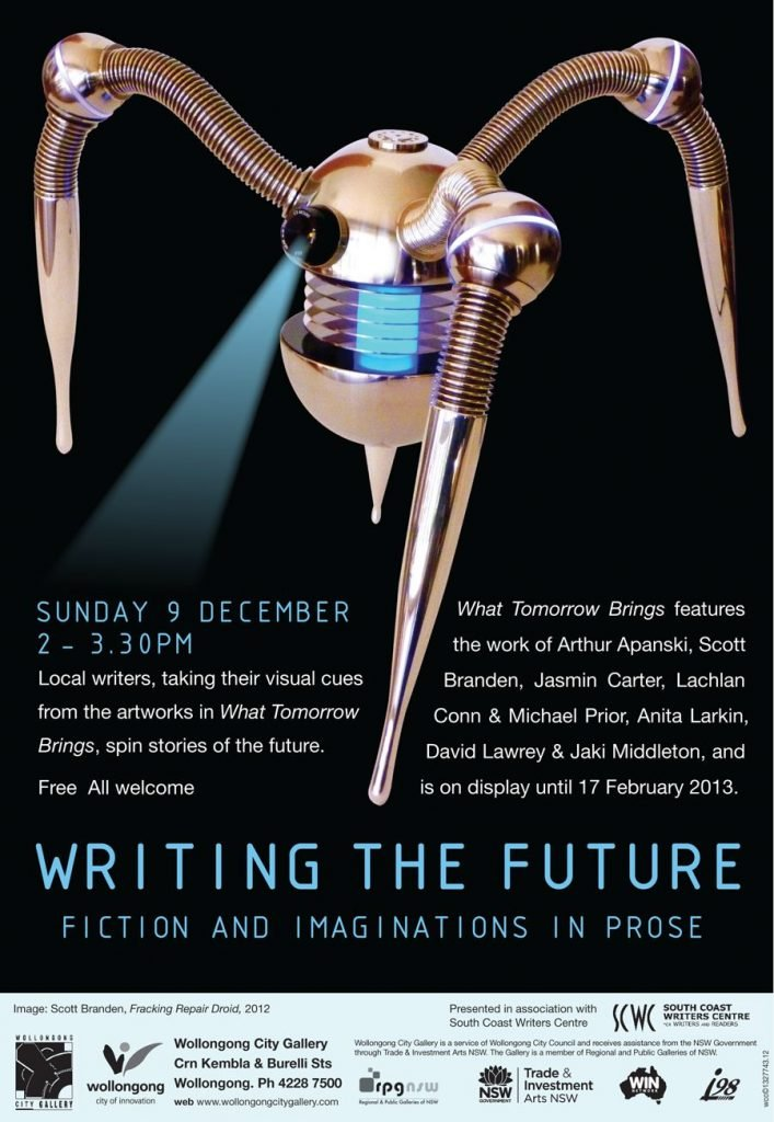Writing The Future Poster from Wollongong City Gallery